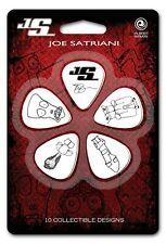 Planet Waves Joe Satriani Guitar Picks, White, 10 pack, Light, 1CWH2-10JS