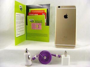 Apple iPhone 6 - 16GB - GOLD  (Straight Talk/T-Mobile 4G LTE Nano SIM Card)