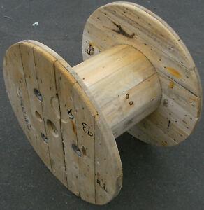 Kabeltrommel Holz Massivholz 71 cm Durchmesser Gartentisch Wohnzimmertisch (a)