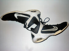 Nike AIR VISI PRO 4 Mens Gray Silver Black Basketball Shoes size 10.5 Free Ship