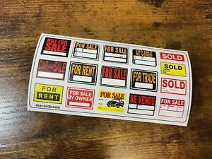 *NEW! 1/10 scale FOR SALE RENT TRADE RC Truck Body decal sticker - Garage Sign