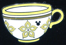 DLR 2015 Hidden Mickey Mad Tea Party Cups Yellow Disney Pin 111945
