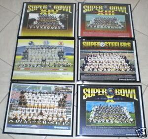 6 STEELERS SUPERBOWL CHAMPION TEAMS FRAMED 11x14 PRINTS