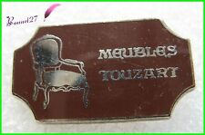 Pin's magasin MEUBLES TOUZART Chaise Fauteuil style anciens Etrépagny 27 #F3