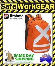 Safety Caribee Hi Vis Back Pack Orange with tape 2 pockets and 2 drinks holders