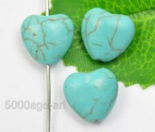 30pcs turquoise heart-shaped Spacer Beads charm  pendants bead 12mm