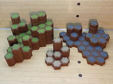 Heroscape Terrain Lot - 338 Hexes - Grass Rock Sand - Expand Your Battlefield