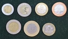 BIMETALLIC BI-METAL LOT 7 COINS COLLECTION PORTUGAL CHILE THAILAND NIGERIA