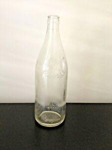 Vintage H NEEDS Mudgee Embossed Script Clear Crown Seal Bottle