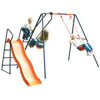 Childrens Hedstrom Swing Glider & Slide Saturn Outdoor Garden Kids Multiplay Set