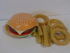 Pretend Kitchen Play Food Lot  HAMBURGER FRIES  onion rings