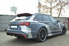 Cup Dachspoiler Heck Spoiler schwarz für Audi RS6 4G Sportback Splitter Rear