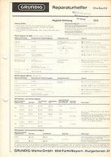 Grundig Service istruzioni manual Elite-Boy 210 b1098