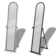 New Free Standing Floor Dressing Mirror Full Length Steel Black/Grey Seletable