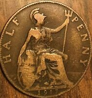 1917 UK GREAT BRITAIN HALF PENNY