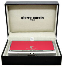 Pierre Cardin Cigarette Case Single Layer Red and Chrome Finish
