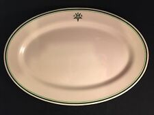 "IROQUOIS CHINA OVAL 15"" PLATTER OES RESTAURANT MASONS EASTERN STAR Excellent"