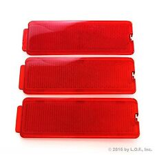 3 Fits Ford 1999-2007 F250 SuperDuty Front or Rear Door Reflectors F350 F450 Red