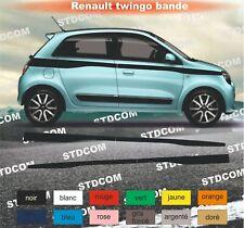 Renault Twingo - Bandes Stickers adhésifs décoration - couleur au choix