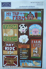~MY TRIP TO THE FARM~ Karen Foster Cardstock Stickers FARMING, Red Barn, Animals