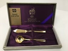 LEC Karad K22 Gold Treatment Butter Knife Sugar Spoon Presentation Box Set Japan