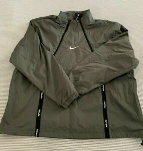 Nike Air Woven Pullover Jacket Men's XXL Olive Green CU4118-380 $130 NWT