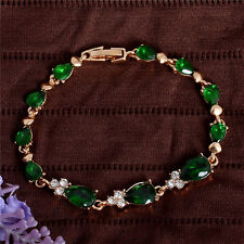 Wholesale 18k Yellow Gold Plated  drop shape Austrian Crystal woman's bracelet