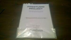 Instructions Presonus Firestudio Project Firewire Audio Interface Manual