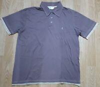 Yves Saint Lauren YSL Polo T Shirt Tee Top Short Sleeves Brown Size L
