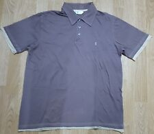 Yves Saint Lauren YSL Polo T Shirt Tee Top Short Sleeves Brown Size L