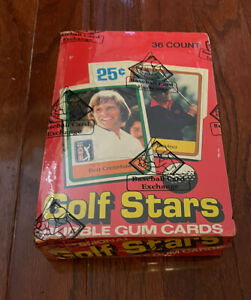 1981 Donruss GOLF WAX BOX 36 Unopened Packs BBCE SEALED WRAPPED L286
