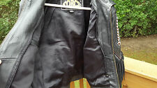 Force Genuine Leather Beaded Fringed  Motorcycle Jacket  Sz. 14
