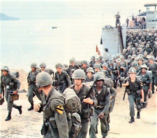Vietnam War U.S. Army 1st Cav Arriving 1965 Destination La Drang 8.5x11 Photo