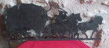 Bas relief la diligence fonte (moulé) patine cuivre ( redécoration militaire ?)
