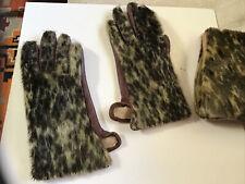 Vintage Seel skin fur & leather gloves 6-7 .matching purse sold separate