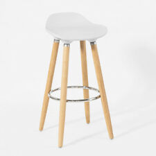 SoBuy® Kitchen Breakfast Barstool, Dining Chair with Footrest,White, FST34-W,UK
