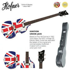 Hofner Limited Edition Union Jack 500/1 Vintage '62 Bass Guitar + Case BRAND NEW