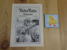 KITCHEN KLATTER Magazine JANUARY 1983 Winter in a Country School