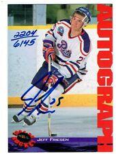 Jeff Friesen 1994 Classic Autograph Card