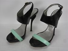 GEORGINA GOODMAN LEATHER PLATFORM OPEN TOE ANKLE STRAP HEELS SHOES WOMEN'S 37