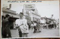 Atlantic City, NJ 1941 Photograph: Slice of Life on Boardwalk Photo