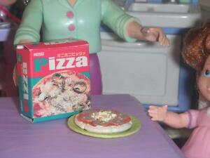 Rement Pizza Box & Personal Pan Pizza fits Fisher Price Loving Family Dollhouse