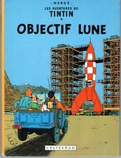 TINTIN OBJECTIF LUNE HERGE BELLE EDITION DES ANNEES 1970