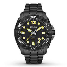 Bulova Men's 98B242 Sea King Quartz Black Dial Stainless Steel Dive Watch