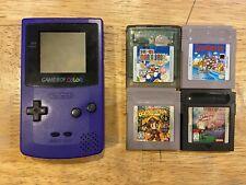 New listing Great Purple Gameboy Color Bundle, Super Mario