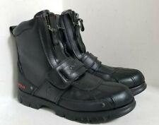 "POLO RALPH LAUREN ""Darrance II"" Double Zipper Mens Boots moto winter - SIZE: 12D"