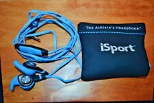 Monster iSport in ear wired headphones with pouch