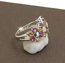 RING  JEWELLERY JEWELRY 925 STERLING SILVER CZ COCKTAIL RING  SIZE 7.5 OR O
