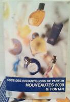 Cotes des Echantillons de Parfum Nouveautes 2000 catalogo fragranze mini profumi