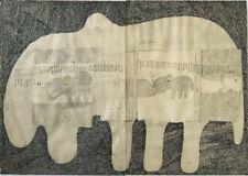 Composition encre par Jean-Luc PARANT (1944) Tunisie Maeght  Pompidou Paris